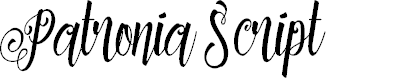 Preview image for Patronia Script