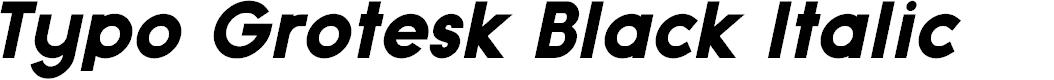 Preview image for Typo Grotesk Black Italic