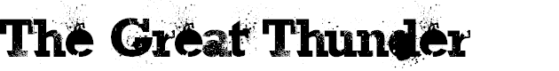 Preview image for The Great Thunder Font