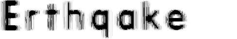 Preview image for Erthqake Font