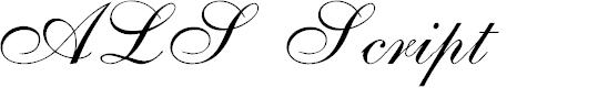 Preview image for ALS Script Font