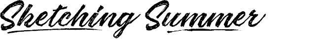 Preview image for Sketching Summer Personal Use Font