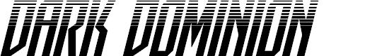 Preview image for Dark Dominion Halftone Italic