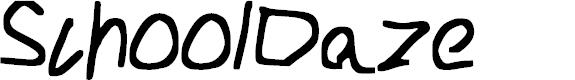 Preview image for School_Daze Font