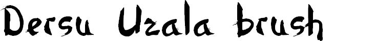 Preview image for Dersu Uzala brush Font