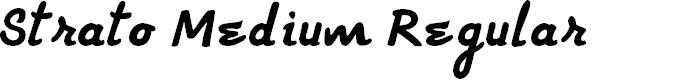 Preview image for Strato Medium Regular Font