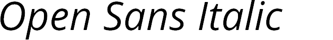Preview image for Open Sans Italic