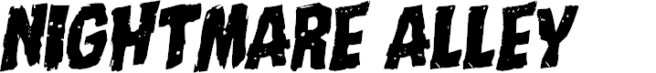 Preview image for Nightmare Alley Rotalic Font