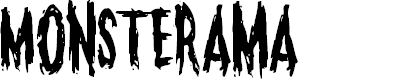Preview image for Monsterama Regular Font