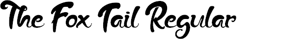 Preview image for The Fox Tail Regular Font