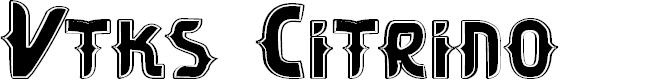 Preview image for Vtks Citrino Font