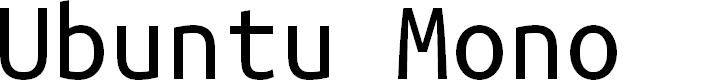Preview image for Ubuntu Mono Font