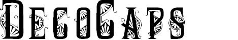 Preview image for DecoCaps Font