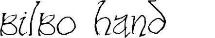 Preview image for Bilbo-hand Regular Font