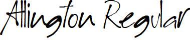 Preview image for Allington Regular Font