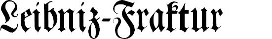 Preview image for Leibniz-Fraktur Font