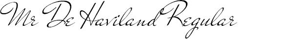 Preview image for Mr De Haviland Regular Font