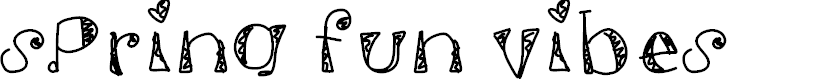 Preview image for SpringFunVibes Font
