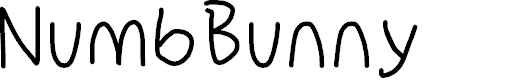 Preview image for NumbBunny Font