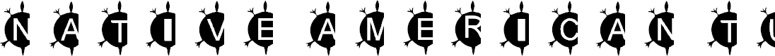 Preview image for AEZ Native American Turtle Font