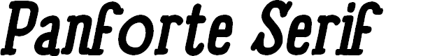 Preview image for Panforte Serif Bold Italic