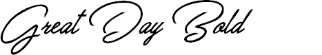Preview image for Great Day Bold Personal Use Font