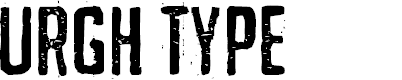 Preview image for URGHTYPEPERSONALUSE Font