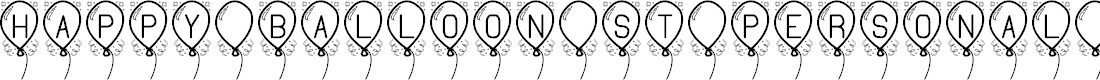 Preview image for Happy Balloon St PERSONAL USE Font