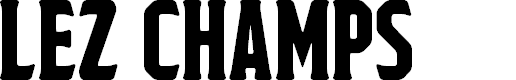 Preview image for Lez Champs Regular Font