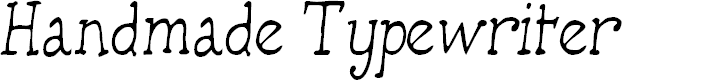 Preview image for HandmadeTypewriter Font