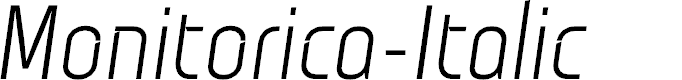Preview image for Monitorica-Italic