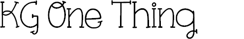 Preview image for KG One Thing Font