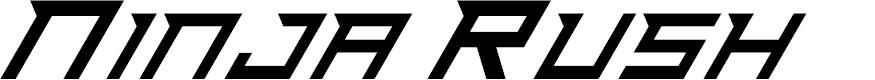 Preview image for Ninja Rush Font