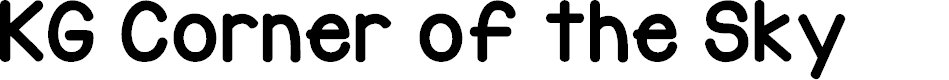 Preview image for KG Corner of the Sky Font