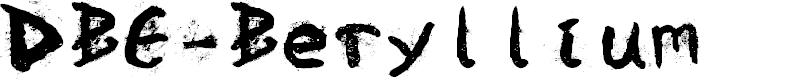 Preview image for DBE-Beryllium Font