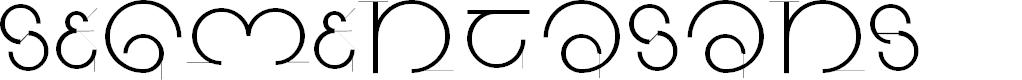 Preview image for SegmentaSans Font