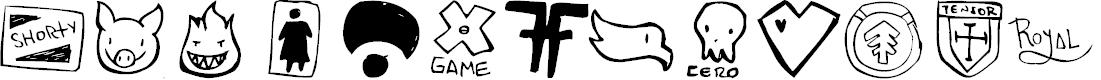 Preview image for PARODY LOGOSKATE Font