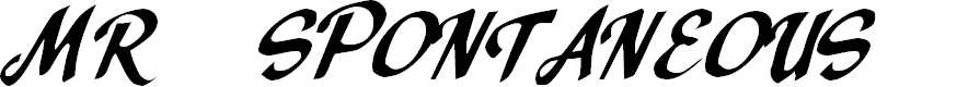 Preview image for Mr. Spontaneous Font