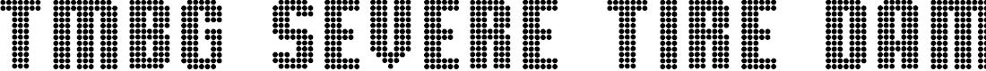 Preview image for TMBG Severe Tire Damage Font