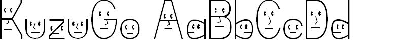 Preview image for KuzuGo Light Font