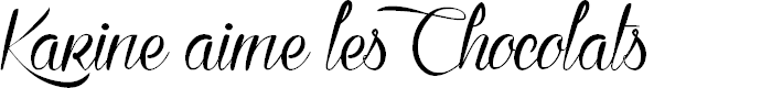 Preview image for Karine aime les Chocolats Font