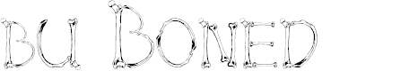 Preview image for bu Boned Font