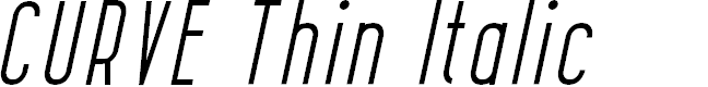 Preview image for CURVE Thin Italic