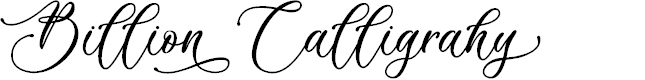 Preview image for Billion Calligraphy - Personal Use Font
