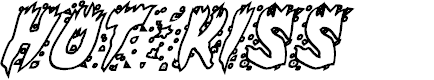 Preview image for Hot Kiss Outline Italic