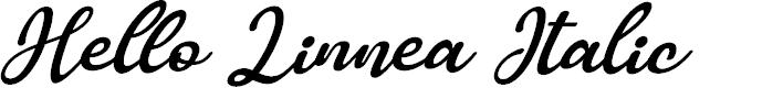 Preview image for Hello Linnea Italic Font