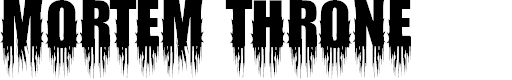 Preview image for Mortem Throne Font