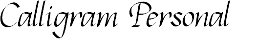 Preview image for Calligram Personal Font
