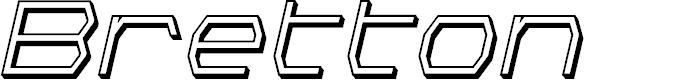 Preview image for Bretton 3D Italic
