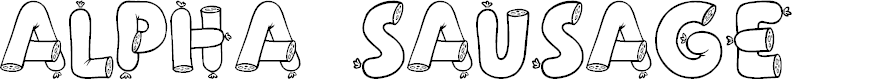 Preview image for Alpha Sausage Font